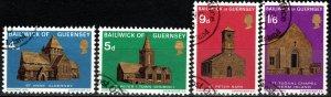 Guernsey #37-40  F-VF Used  CV $2.75 (X1654)