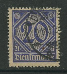 Germany -Scott OL13 - Local Offials -1920 -FU - Wmk 125 - Single 30pf Stamp