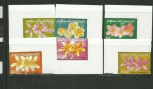 PAPUA NEW GUINEA 2005 FLOWERS SCOTT 1170-5 MNH SCV $11