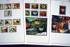 COLOR PRINTED JERSEY 2011-2014 STAMP ALBUM PAGES (46 illustrated pages)