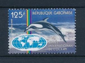[30288] Gabon 1998 Marine Life Year of the Ocean Dolphin MNH