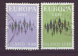 J19197 Jlstamps 1972 iceland set used #439-40 europa