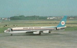 7655 Aviation Postcard  010 ZAIRE AERO SERVICE BOEING 707-458  Airlines