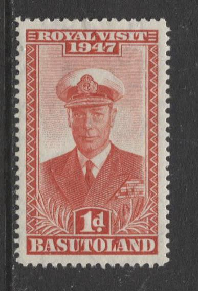 Basutoland - Scott 35 - Royal Visit Issue -1947 - MLH - Single 1d Stamp