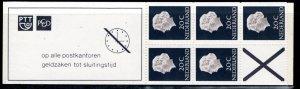 Netherlands Scott # 347b, mint nh, cpl. stamp booklet,  variation, se-tenant