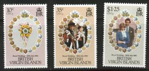 Virgin Islands  Scott 406-8 MH* 1981 stamp set