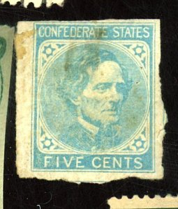 CSA #7 MINT FVF OG HR STAINED PAPERE HR Cat $22