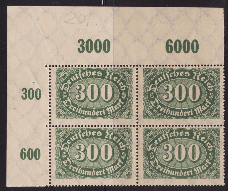 Germany #201 Block of 4, F-VF Mint NH ** Numeral of Value