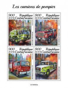 CENTRAL AFRICAN REP. (CENTRAFRIQUE) / 2019 Fire trucks