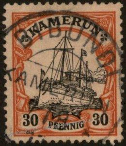 Germany 1900 BIBUNDI Kamerun Cameroons Mi12 Unwmk 30pf Yacht 104792