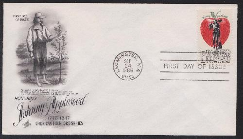 1317 Johnny Appleseed Unaddressed ArtCraft FDC