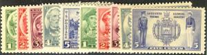 US #785 - 794 COMPLETE ARMY NAVY SET,   VF mint never hinged,  10 stamp total...