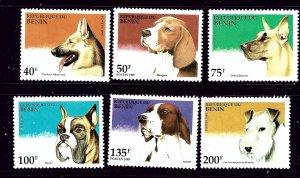 Benin 741-46 MNH 1995 Dogs   #2