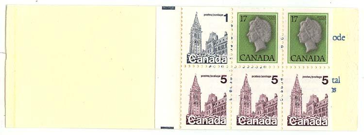 Canada - Unlisted Flag Variety on Complete Booklet #BK80a