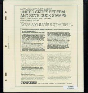 1993 Scott US Federal & State Duck Stamp Album Supplement #115S093