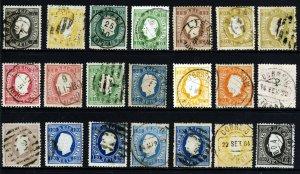 PORTUGAL 1870-84 King Luis Straight Label Set Perf. 12½ SG 69 to SG 101 VFU