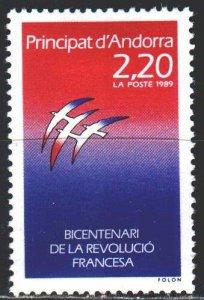 Andorra. 1989. 397. French revolution. MLH.