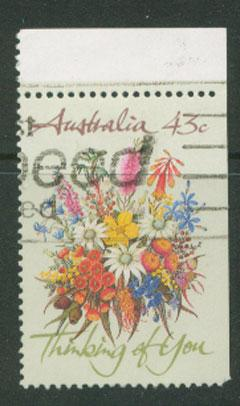 Australia SG 1231 VFU  booklet imperf stamp Top right