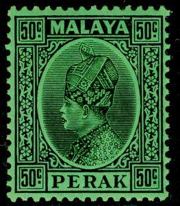 MALAYSIA - Perak SG99, 50c black/emerald, NH MINT. Cat £10.