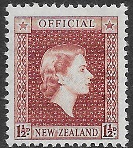 New Zealand O101  1954   1 1/2d  fine mint NH