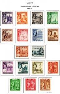 Malta, 246-262, 1956-1957, Complete Set, MLHOG, High C/V, Approx $210 CDN (2006)