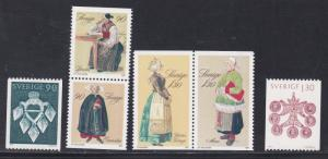 Sweden # 1304-1309, Christmas Costumes, NH, 1/2 Cat.