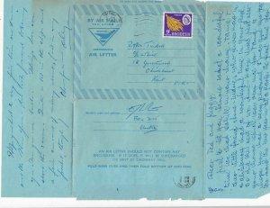 Rhodesia to Kent U.K. 1969 Air Letter Ref 31106