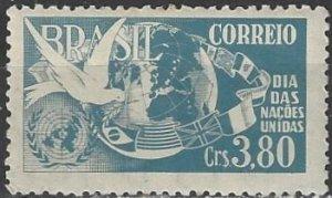 Brazil  728  MNH  United Nations Day 1952