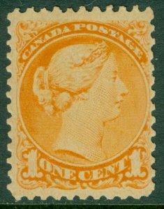 EDW1949SELL : CANADA 1873 Scott #35a Orange. Mint Never Hinged. Catalog $225.00+