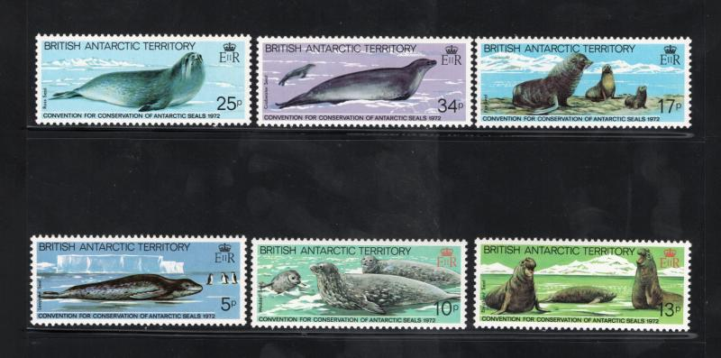 BRITISH ANTARCTIC TERRITORY Sc# 96 - 101 MNH FVF Set-6 Seals