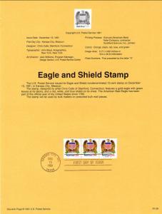US SP990 Eagle and Shield 2602 PNC A54444 Souvenir Page FDC