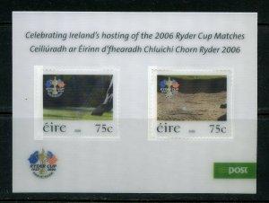 IRELAND 2006 RYDER'S CUP MATCHES SOUVENIR SHEET MINT NEVER HINGED