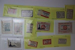 PSS Precancel Philatelic Society PRECANEX club Round-up collection lot 1940s