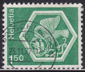 Switzerland 573 USED 1973 Stein am Rhein Convent Ceiling