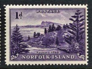 STAMP STATION PERTH Norfolk Island #2 Ball Bay Def. White Paper Reprint MNH