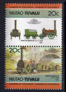 Tuvalu Niutao 12 Trains MNH VF