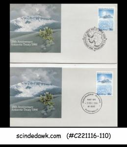 AUSTRALIAN ANTARCTIC TERRRITORY - 1986 25TH ANNIV. 2V - FDC 2NOS WITH DIFF CANC