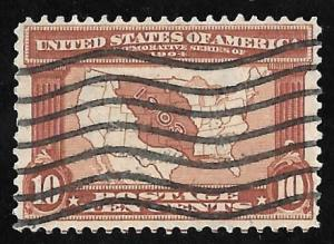 327 10 cents Map Louisiana Exposition Stamps used VF