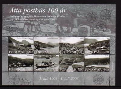 Faroe Islands Sc 435 2003 Old Post Offices stamp sheet NH