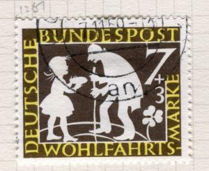 GERMANY; WEST 1959 early Relief Fund issue fine used value 7pf
