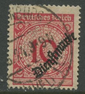 STAMP STATION PERTH Germany #O49 Official Issue Used 1923