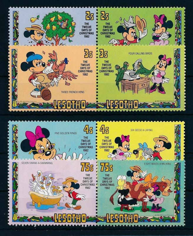 [22292] Lesotho 1982 Disney Mickey Mouse Twelve days of christmas MNH