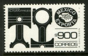 MEXICO Exporta 1500 $900P Pistons Fluor Paper 13 MNH