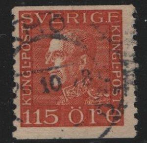 SWEDEN, 187, USED, 1921, King Gustaf V