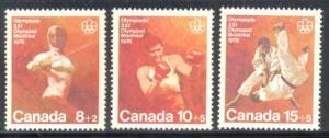 Canada ~ #B7-B9 ~ Combat Sports ~ MNH Set (b)