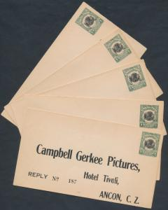 C.Z.#U1 (5) ENTIRE PREPRINTED REPLY ENVELOPE CAMPBELL GERKEE PICTURES BR1743