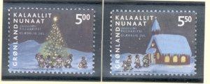 Greenland Sc 420-21 2003 Christmas stamp set mint NH