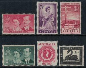 Australia #266-70,4*/u  CV $3.35