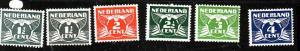 Netherlands-Sc#167-71-five unused hinged-1926-35-