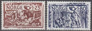 Norway #766-7 MNH F-VF (SU760)